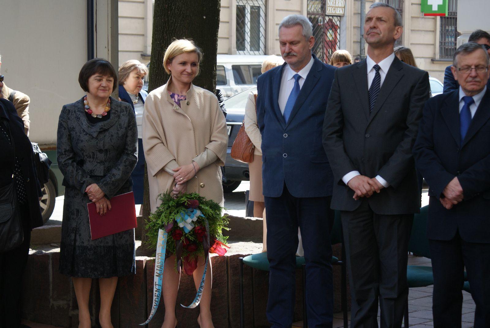 Oglądasz obraz z artykułu: Oddanie hołdu śp. Andrzejowi Ujejskiemu.